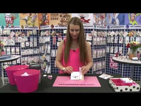 Tip of the Day: Creating Double Fold Cards from Art Impressions - Stamp & Scrapbook EXPO