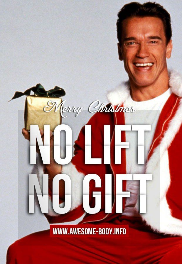Arnold Schwarzenegger Merry Christmas Bodybuilding