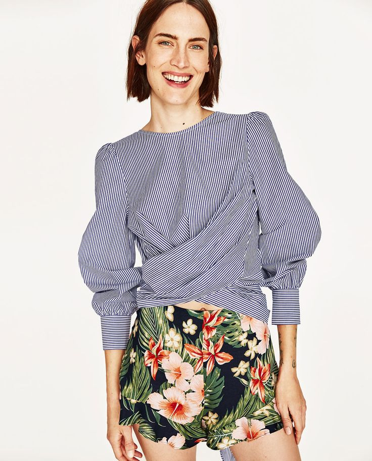WRAP BLOUSE WITH BOW IN BACK-NEW IN-WOMAN | ZARA United States