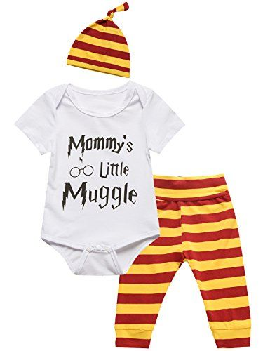 3359ad50f770 3Pcs Outfit Baby Boys Girls Mommy Little Muggle Pant Clot...