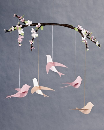 bird mobile: nursery