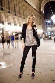 Image result for sequin top skinny jeans