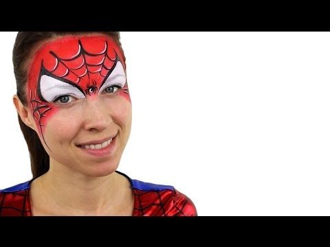 ▶ Spiderman Face Paint Tutorial - YouTube