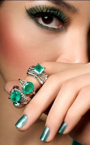 Emeralds are popular for 2012 with their rich green hue.