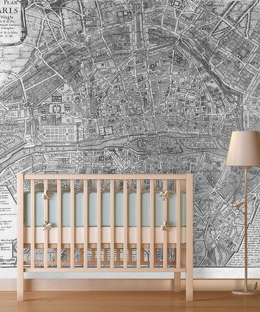 Another great find on #zulily! 1705 Map of Paris Wallpaper #zulilyfinds
