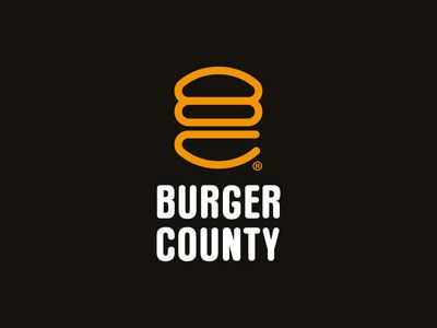 burgercounty fast food logo design 25 Cool & Creative Fast Food & Drink Logos For Inspiration
