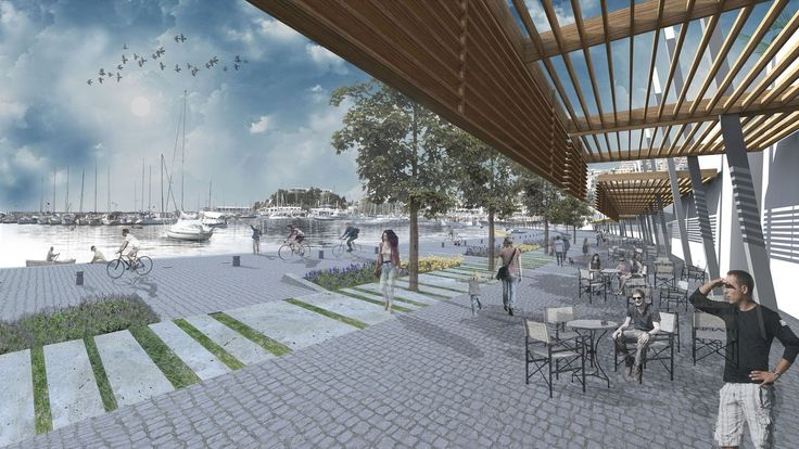 A-G Architects/Athens-Greece Redesign of Microlimano Coast (Piraeus) 1st Prize Architecture Competition-2015