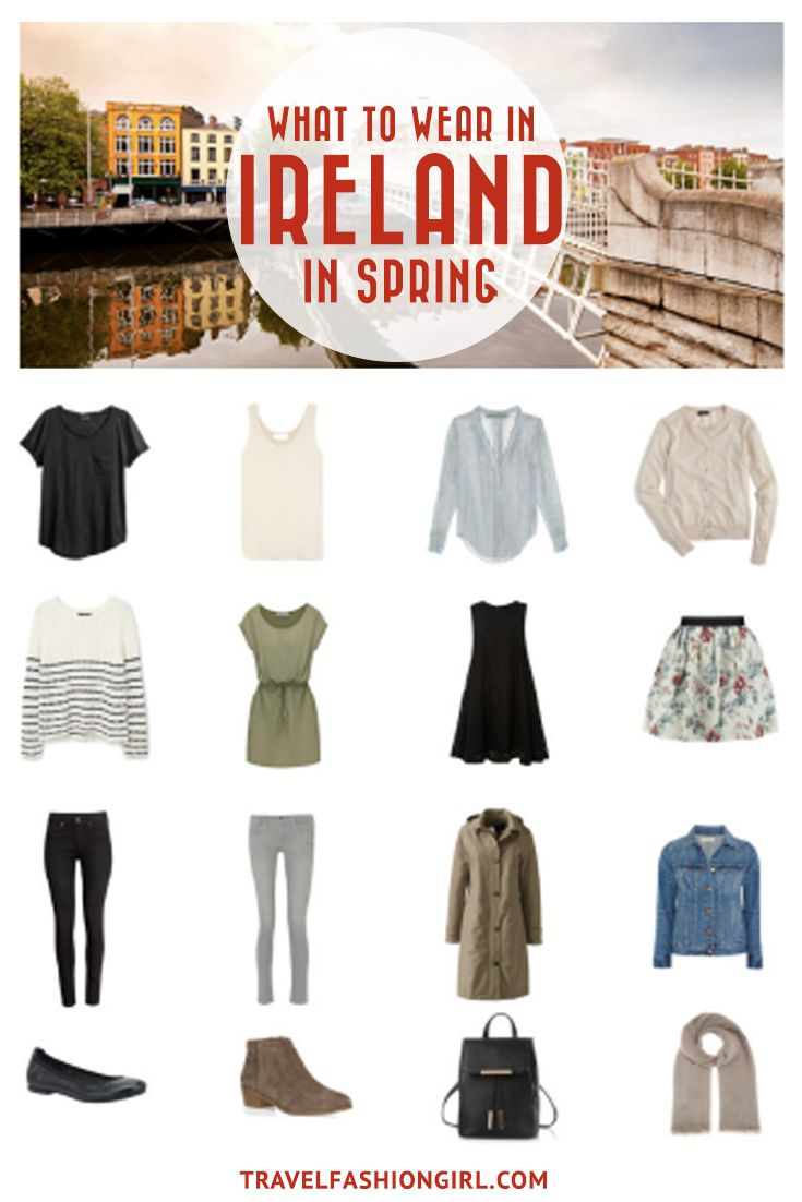 Planning a trip to Ireland in the Spring? Use this packing list to help you pack light for your trip. Click here for an easy to use and comprehensive packing list for Ireland in Spring. | TravelFashionGirl.com