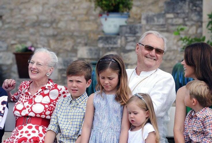 Den kongelige familie på Château de Cayx