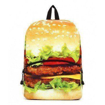 Deze Mojo Rugzak Big Hamburger vind je op www.liefzebraatje.nl