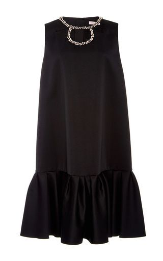 Oversized Sleeveless Trumpet Dress With Pearl Detailing by DICE KAYEK for Preorder on Moda Operandi