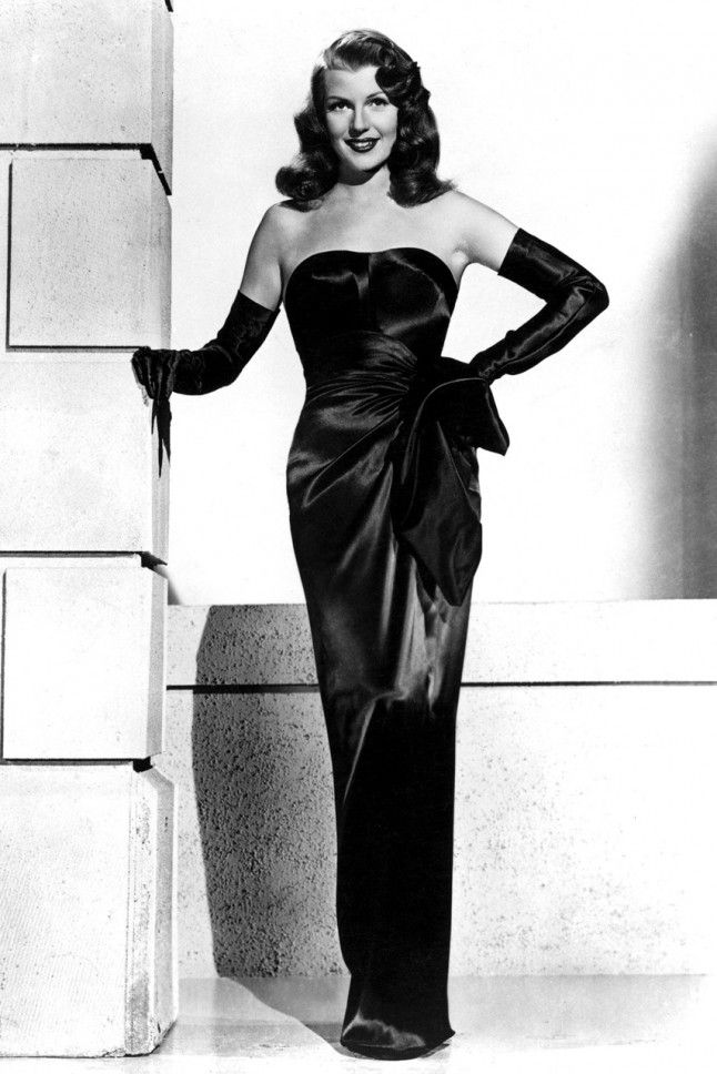 Rita Hayworth, 1946 This famous black gown from Rita Hayworth's striptease scene in Gilda set tongues wagging in 1946.