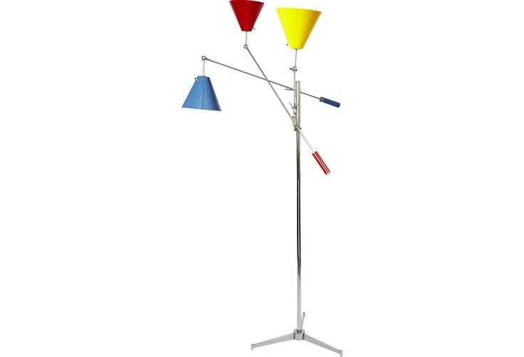 Colour block standing lamp