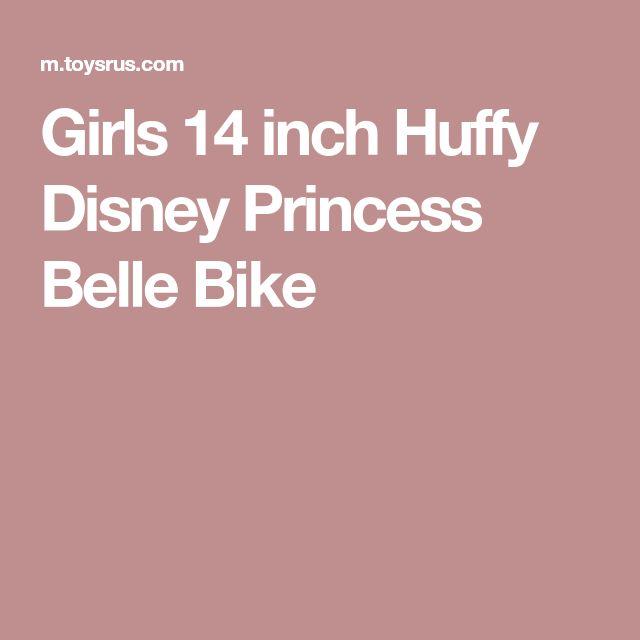 Girls 14 inch Huffy Disney Princess Belle Bike