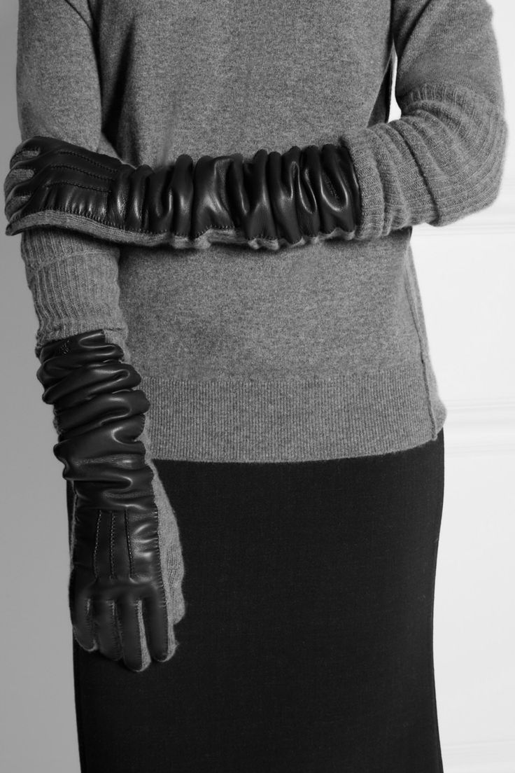 Driving gloves london ontario - Rochas Wool Blend And Leather Gloves Net A Porter