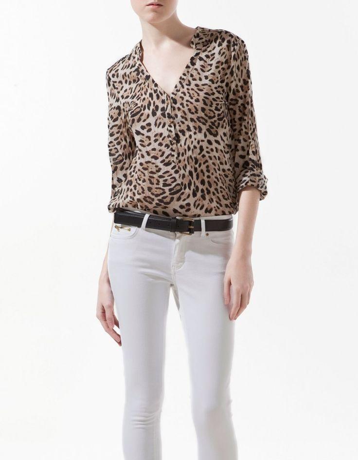 blusa animal print leopardo