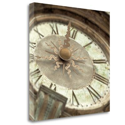 Tangletown Fine Art 'il Grande Orologio - 1 Color' by Alan Blaustein Graphic Art on Wrapped Canvas