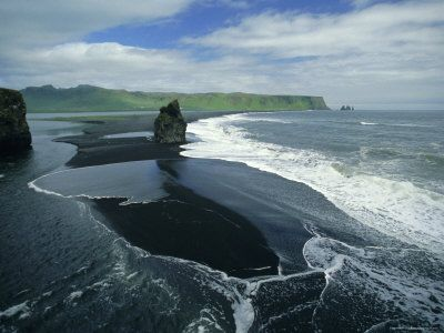 Black sand beach, Dyrhólaey, Iceland.