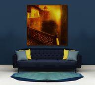 ART/Canvas Print - Wall Decor -Yellow -Sunset, Golden, Art Print,Large,Seema/Ready to Hang/, $120