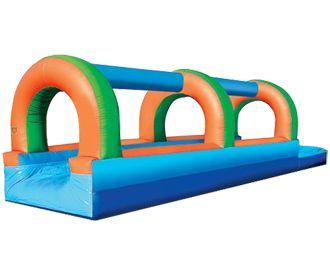 Single Lane Slip-n-Splash inflatable slide