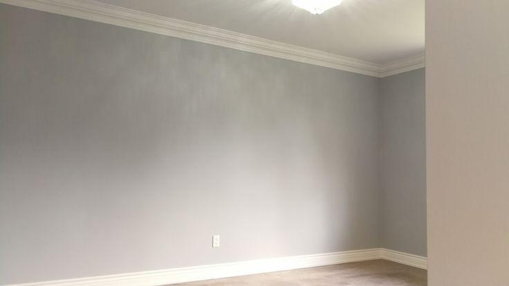 Popular Benjamin Moore Gray--Sweet Inocence, it is painted by Mi Painting & Wallpaper https://www.mipaintingwallpaper.com