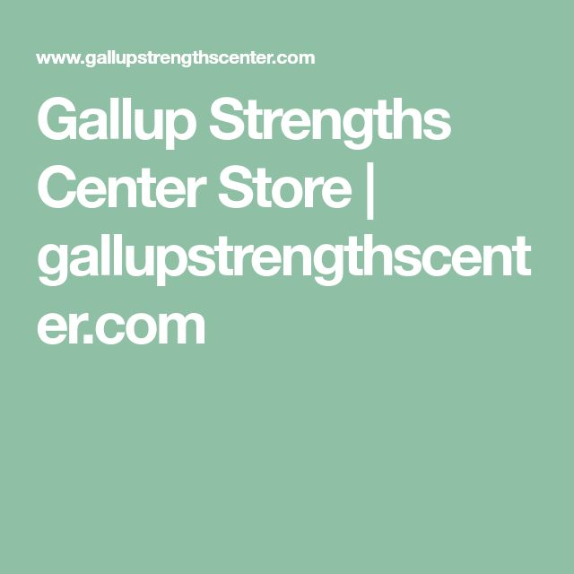 Gallup Strengths Center Store | gallupstrengthscenter.com
