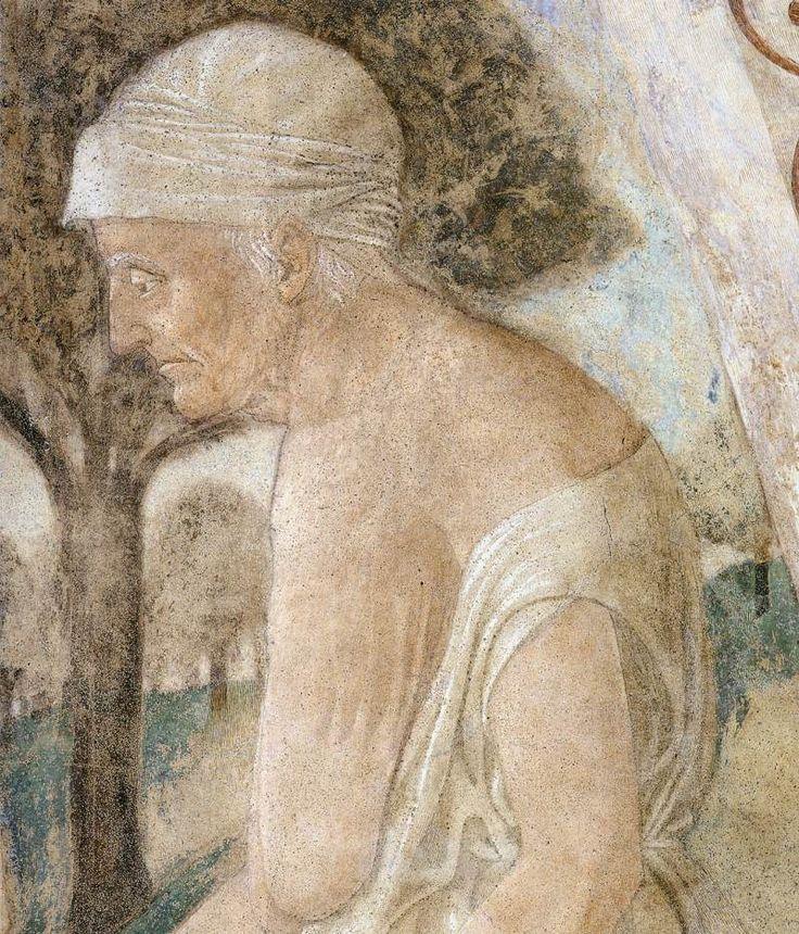 PIERO DELLA FRANCESCA - (1415 - 1492) - The Death of Adam (detail). Fresco. 390…