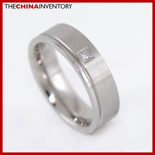 SIZE 9 STAINLESS STEEL GROOVED RING WEDDING BAND R2307