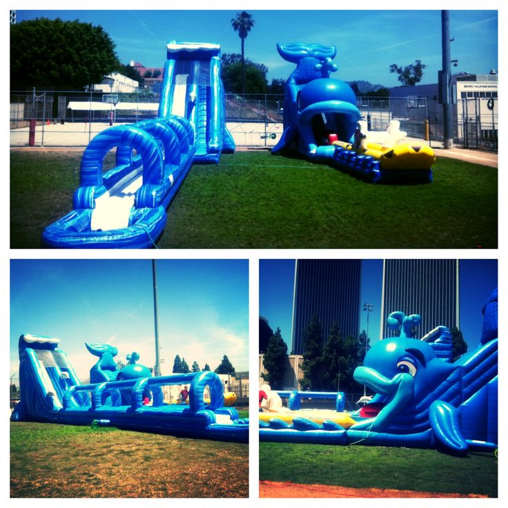 Inflatable Giant Slide: Giant Inflatable Water Slides For Summer Time Parties And
