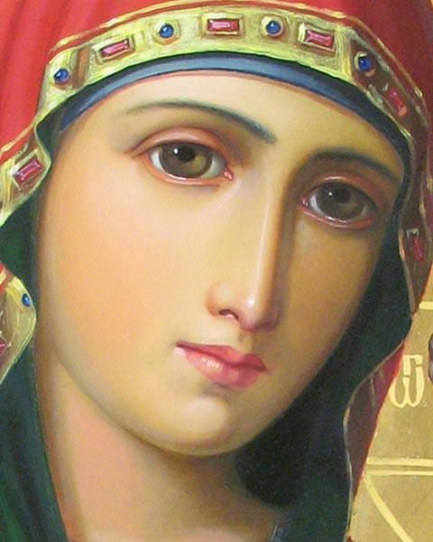 An icon says more than a thousand words, and I fail in being able todescribethisbeautiful Icon of the Blessed Theotokos.
