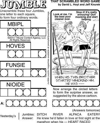 jumble word puzzle | Word Jumble Puzzles Printable
