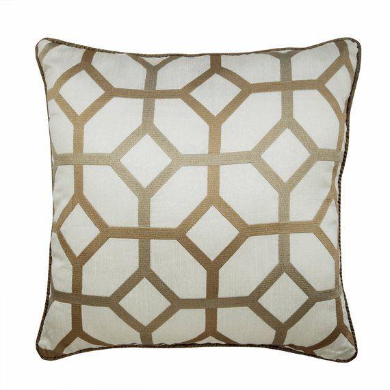 Designer Lattice Trellis Pillow Case 16 X16 Silk Pillow Cover
