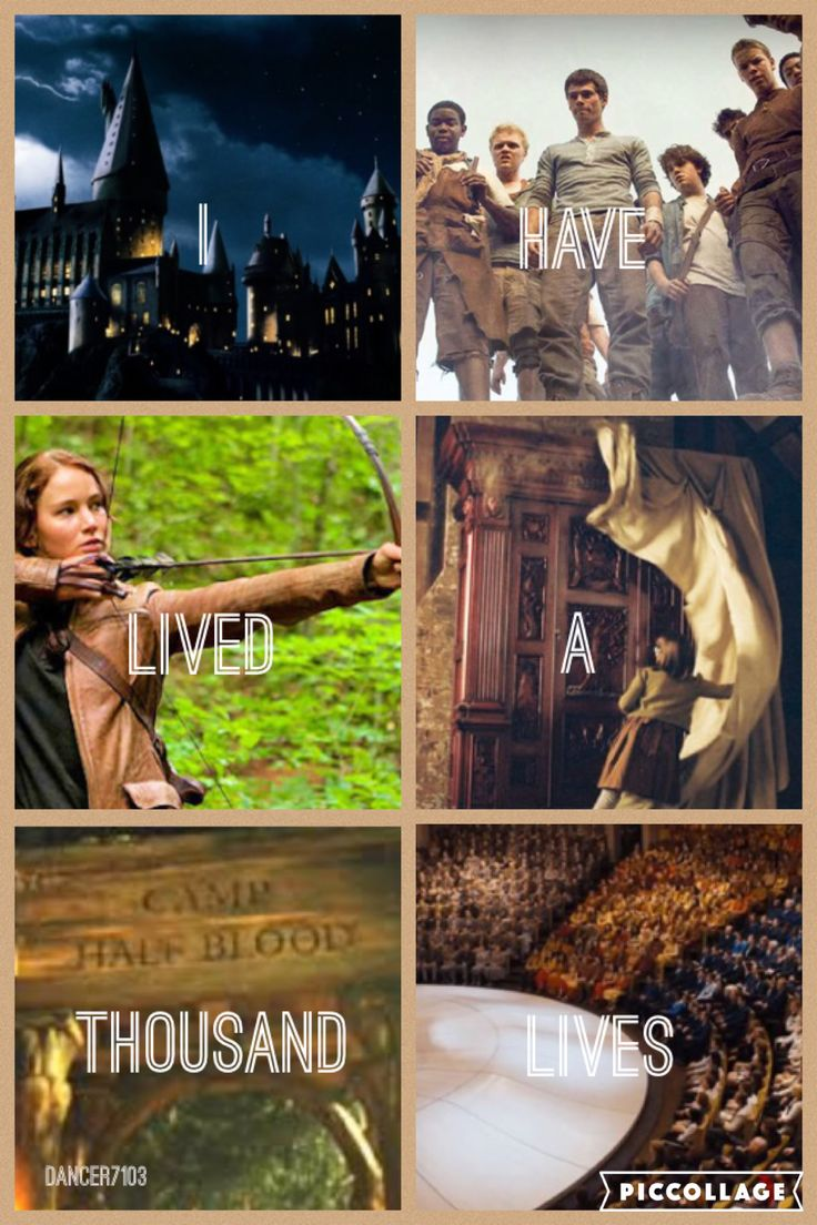 "Harry Potter, The Maze Runner, The Hunger Games, Narnia, Percy Jackson, and Divergent!  ""I have lived a thousand lives."""