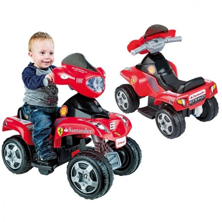 Toddler Ride On Car Vehicle Christmas Xmass Gift Electric Riding Quad Red Kids #ToddlerRideOnCar