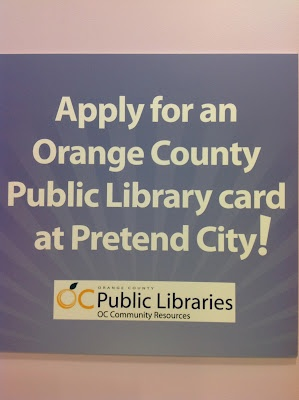 Encourage summer reading by getting a real library card at Pretend City.: Libraries Cards, Library Cards