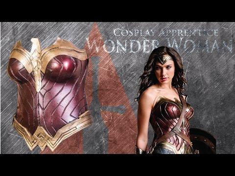 How to make Wonder Woman Cosplay Armor - Wonder Woman Breastplate - YouTube