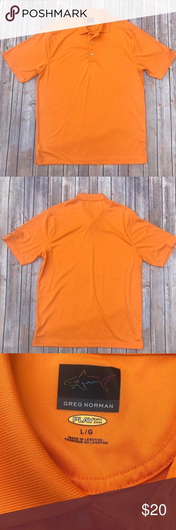 Greg Norman Play Dry Golf Shirt. Size L Greg Norman Play Dry Orange Golf Shirt. Size L Greg Norman Shirts Polos