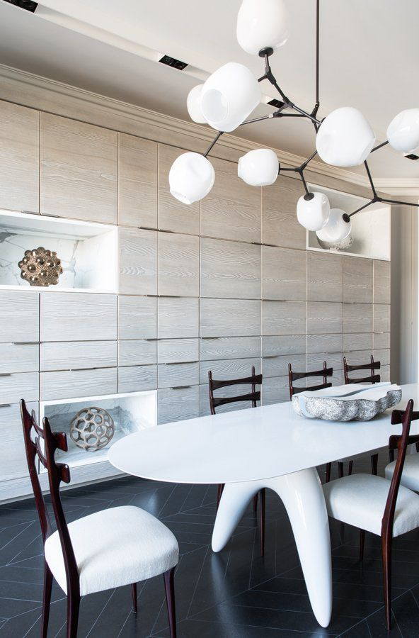 Modern Kitchen Eat In Oval Table Light