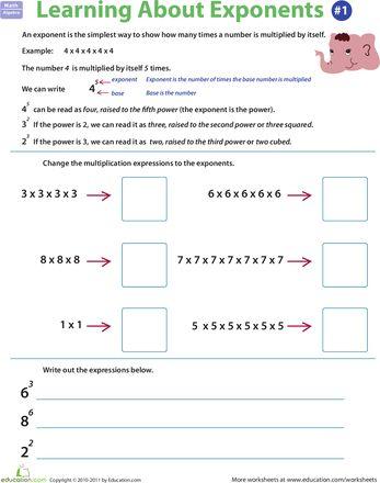 math worksheet : 1000 images about 6th grade math exponents on pinterest  : 6th Grade Math Exponents Worksheets