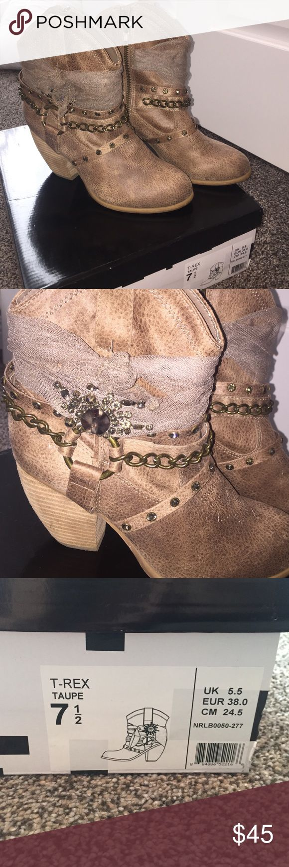 Not Rated Boots Tell boots. Worn once. Minor scuffs. Come in original box. Not Rated Shoes Heeled Boots