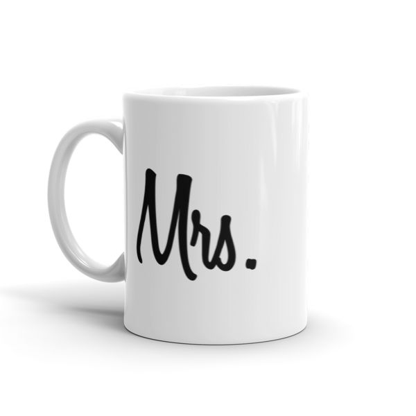 Mrs Mug  #beanandjean This sturdy white, glossy ceramic mug is an essential to your cupboard. This brawny version of ceramic mugs shows it's true colors with quality assurance to withstand heat in the microwave and put it through the dishwasher as many times as you like, the quality will not be altered.  • Ceramic • Dishwasher safe • Microwave safe • White, glossy