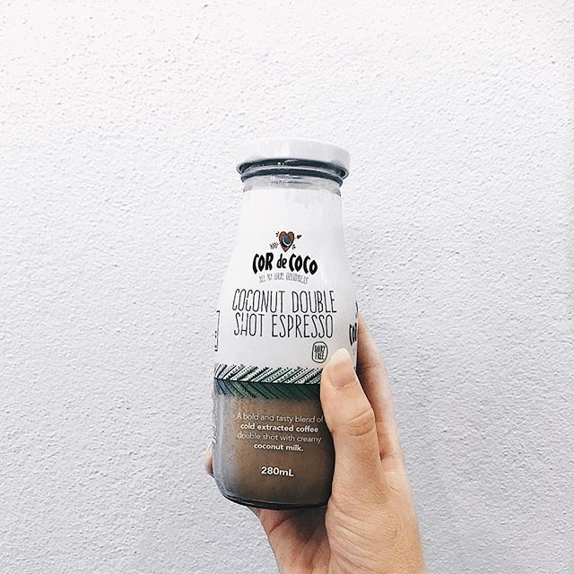 "Credit IG: @malkah.design "" // tastes pretty good for a dairy free ice coffee"""