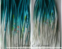Felted wool dreads, merino dreads, soft double ended dreads, long dreads