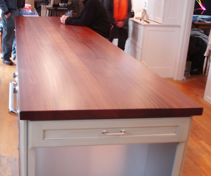 A Gorgeous Island Countertop Finished With Waterlox In