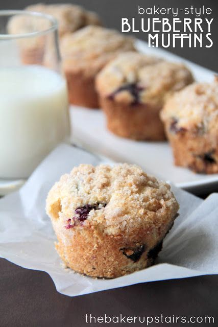 the baker upstairs: bakery-style blueberry muffins