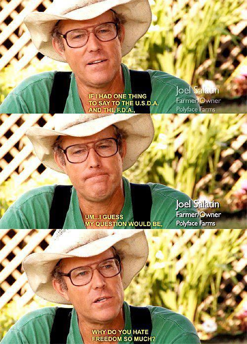 Joel Salatin...my hero farmer. I love him!!!!!