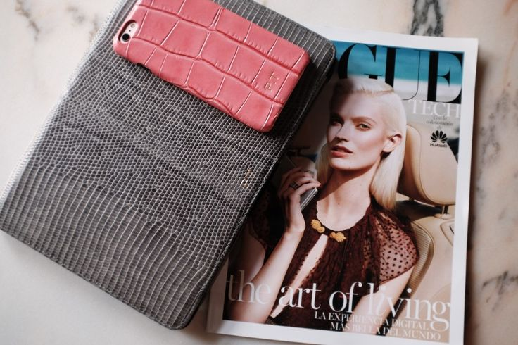 Crocodile Peonia for iPhone 6plus and our Varan Grey Macbook case. www.petra.metromode.se