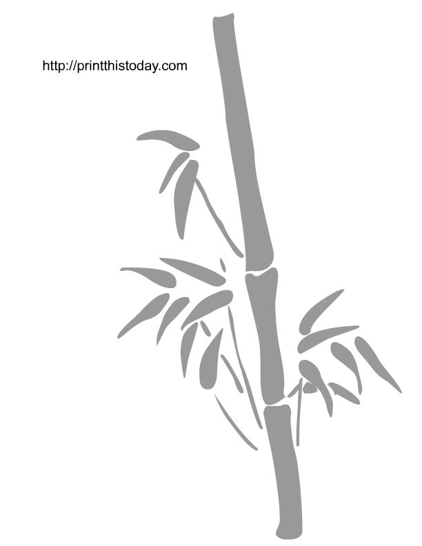 Free Design Patterns | wall stencil with bamboo image repeat pattern