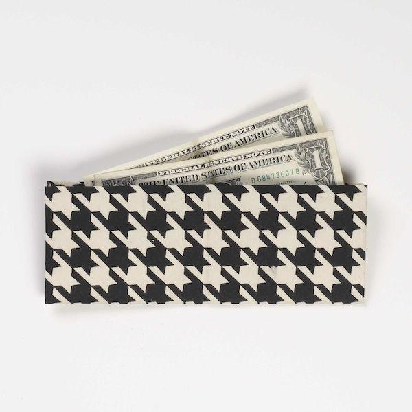 Origami paper wallet.