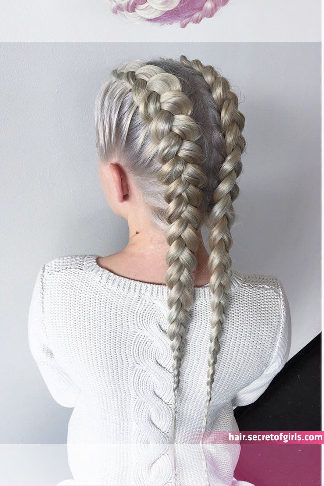 No Photo Description Available Braided Hairstyles Cornrows Braids White Braids For Long Ha In 2020 Two Braid Hairstyles White Girl Braids Cornrow Hairstyles White